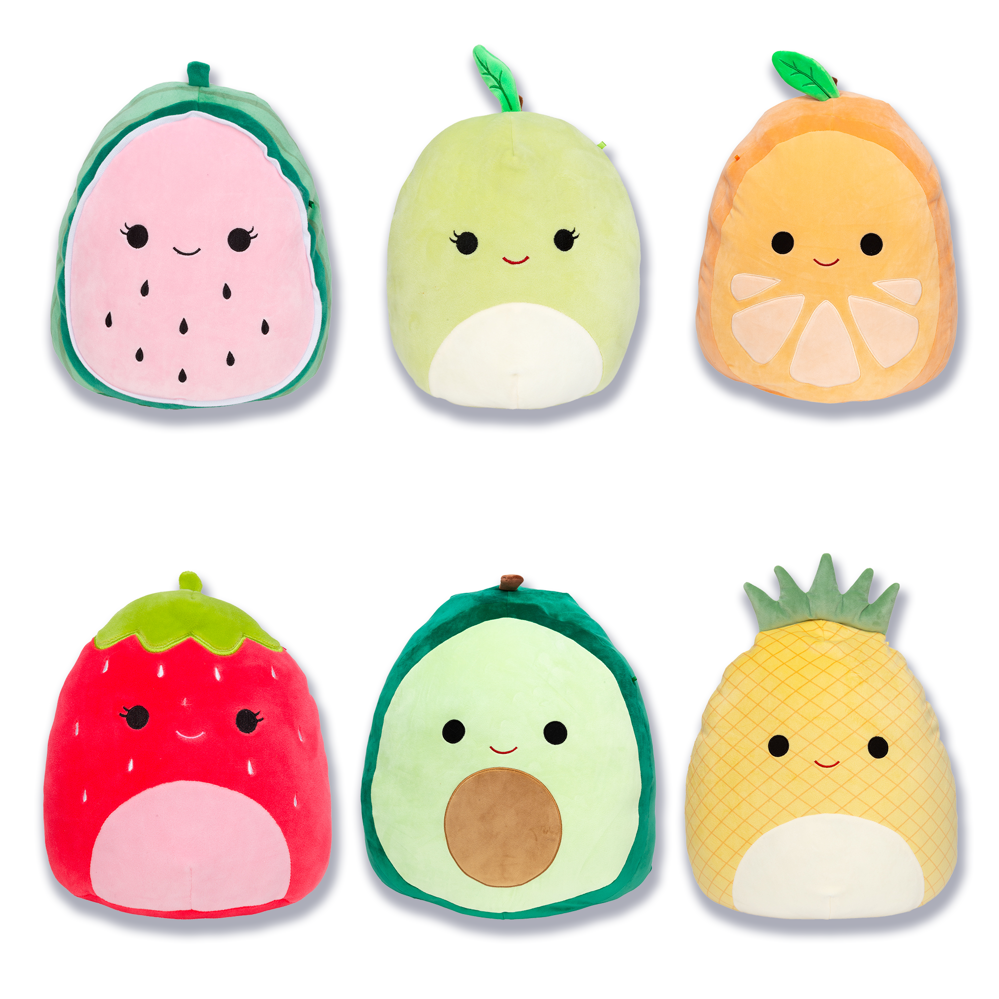 Fruit Squad Pack Squishmallows Cute Stuffed Animals Food Pillows Animal Pillows