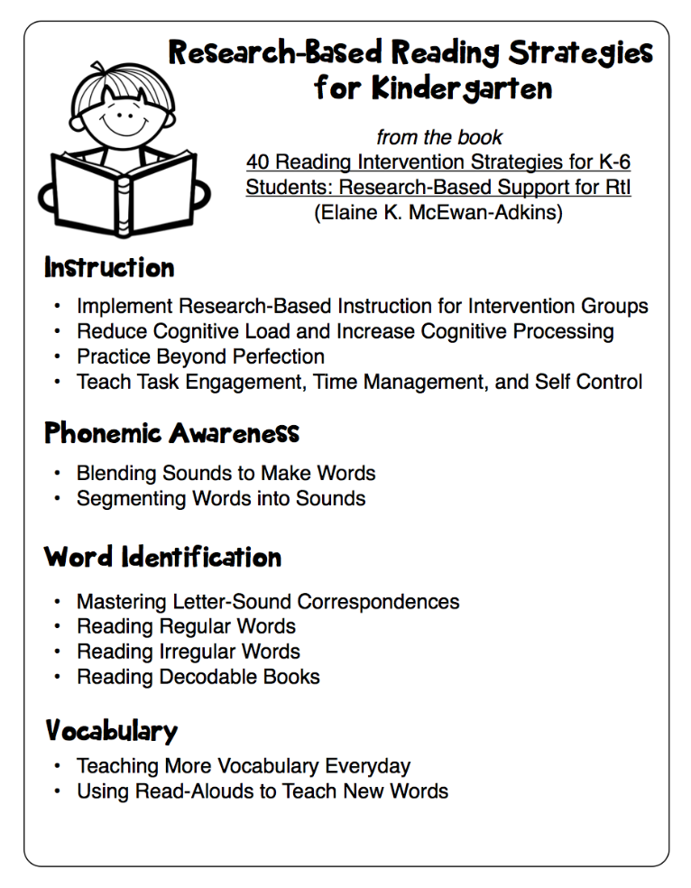 Research Based Reading Strategies Handouts Classroom Freebies