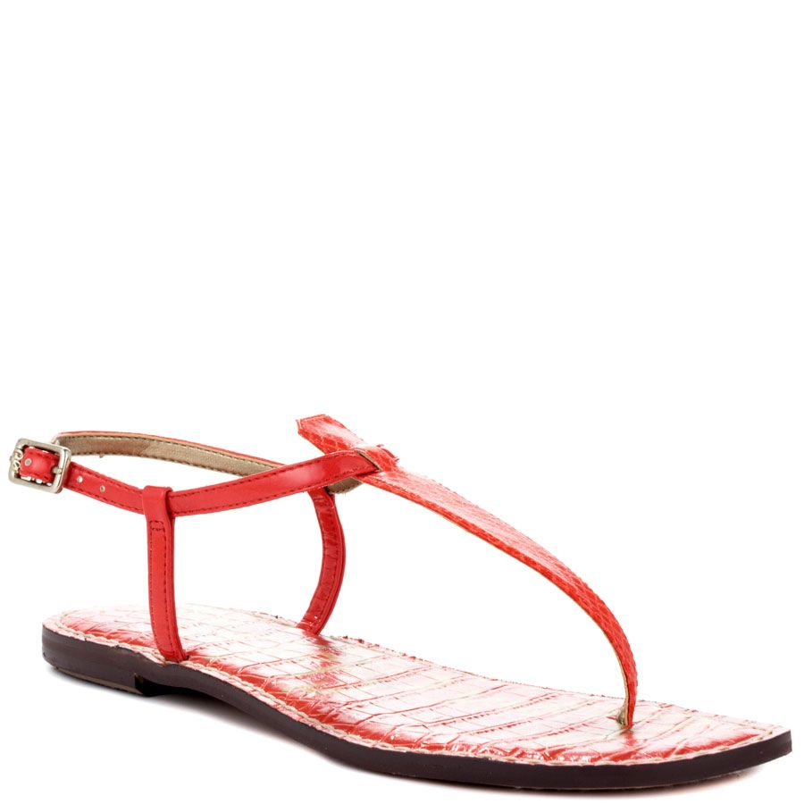 f90ca6a160c Sam Edelman - Gigi Price   65 Look no further for the perfect T strap thong   Sam Edelman has you covered with the Gigi flat. Gigi brings you a bright  orange ...