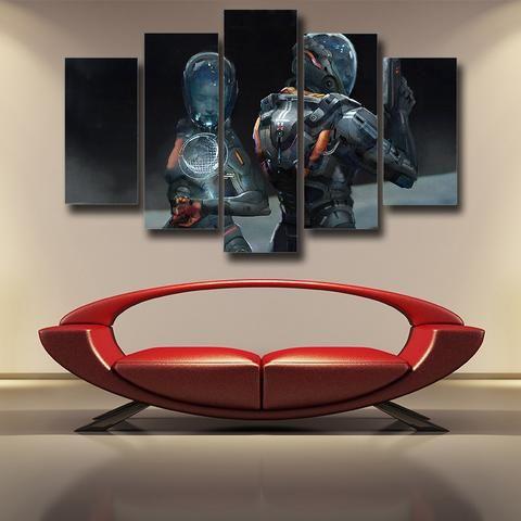 Mass Effect Cerberus Army Fan Art Full Print Dope 5pc Wall Art ...