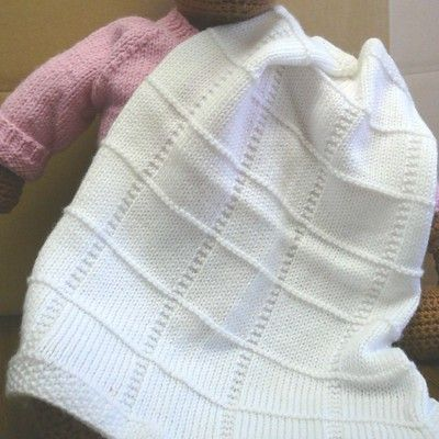 Plymouth Yarn F013 Dreambaby Dk Baby Squares Afghan Free In