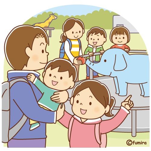 動物園に行く家族のイラスト ソフト Di 2020