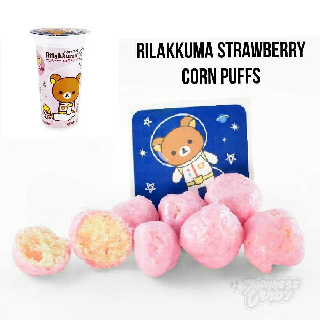 Cupcho Rilakkuma Strawberry Corn Puffs Corn Puffs Japanese Snacks Japanese Candy