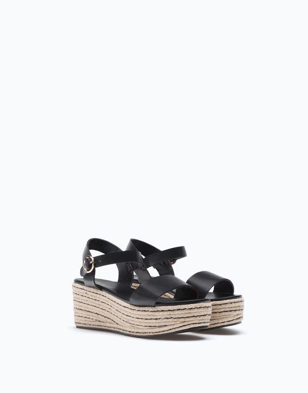 6d226c6dbe9cd CUÑA BLOQUE YUTE COMBINADO - Tacones y Cuñas - Zapatos Mujer - Zapatos -