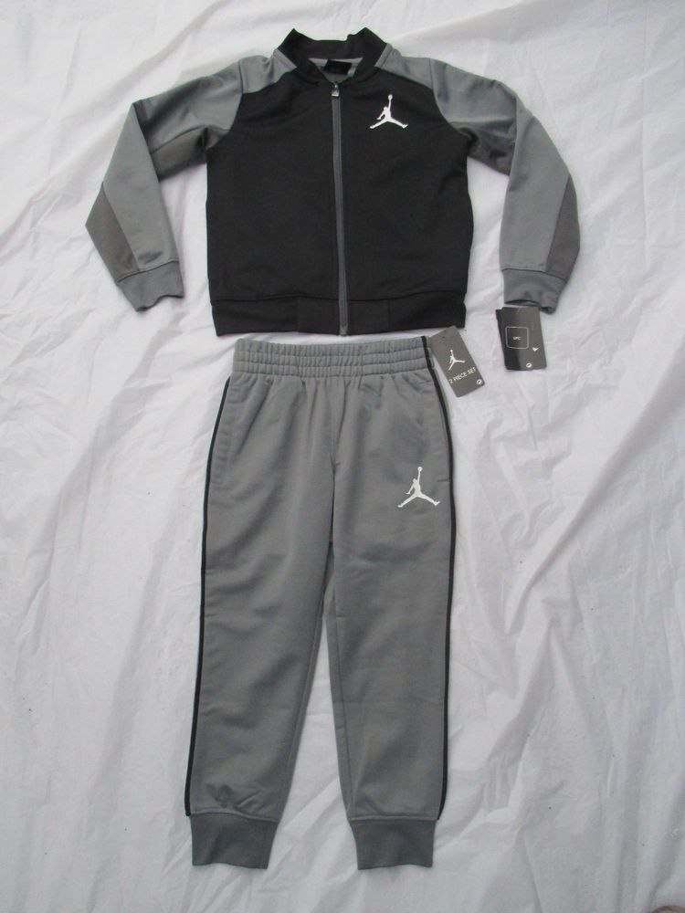 d288ee97b27b80 Nike Boys Michael Jordan Black Grey Tracksuit 2 Piece Set Sizes 4   Up  854897  NikeJordan  DressyEverydayHoliday