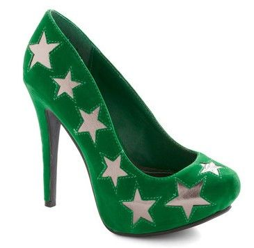 Blue star high heels