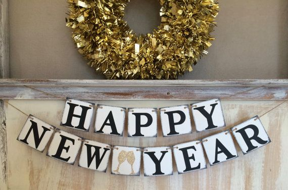 New Year Banner,Happy New Year Banner,Happy New Year Garland,New Years Eve Banner,Happy New Year Decor,New Year Prop,New Year Decoration