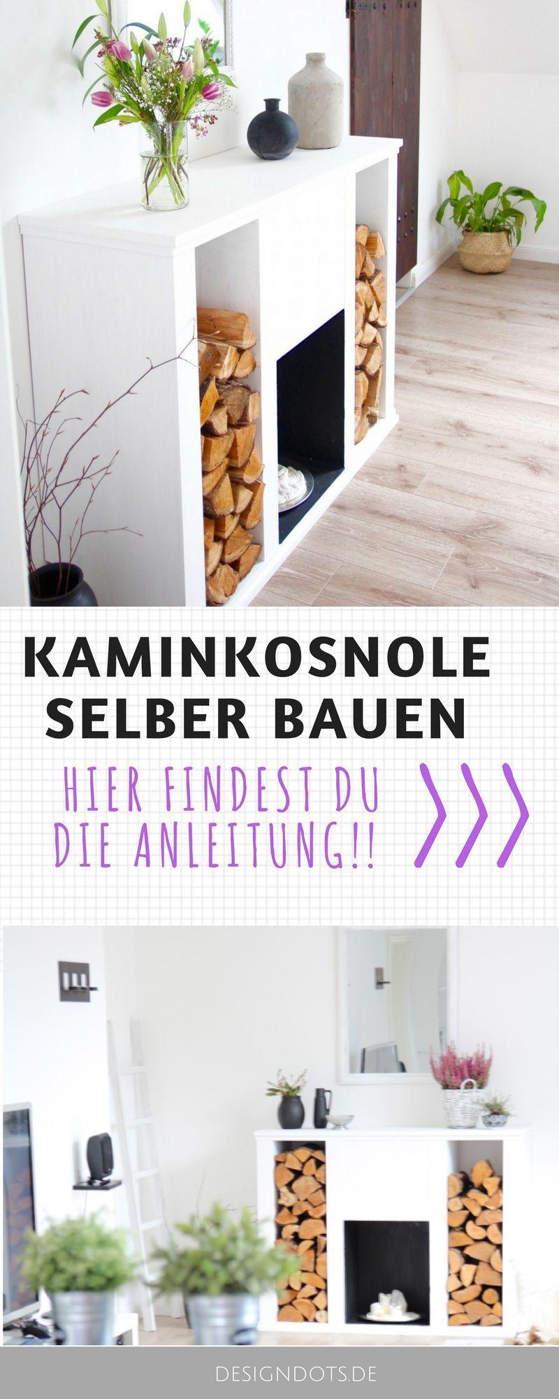 DIY Kaminkonsole selbst bauen - DESIGN DOTS - Kaminkonsole selber