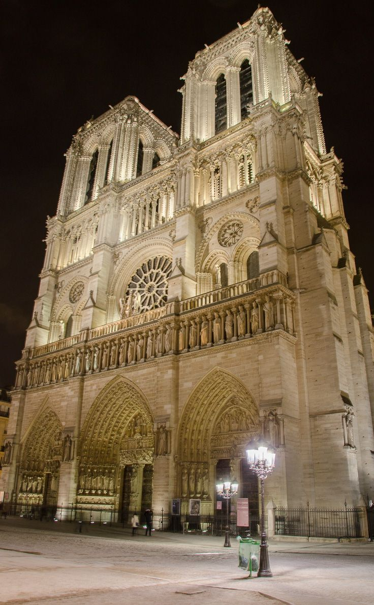 Views Of Paris At Night Notre Dame Paris France And Cathedrals