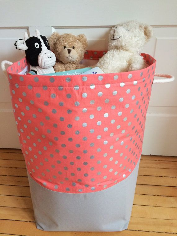 Extra Extra Large Canvas Fabric Storage Bin By Thesweetestofthings Fabric Storage Bins Fabric Storage Fabric Baskets