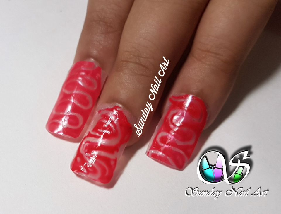 Nail art using wooden stick ! By Sunday Nail Art. Video on YouTube ...