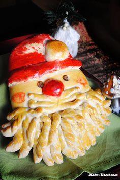 Santa Claus bread - Pan de Papá Noel