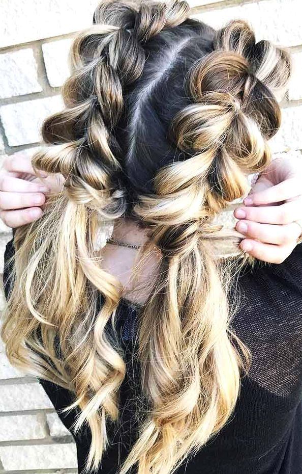 Easy Hairstyle Girls Girls Easy Hairstyle Cute Hairstyle Girls Quick Hairstyle For Girls Cute Ha Cool Braid Hairstyles Thick Hair Styles Braided Hairstyles