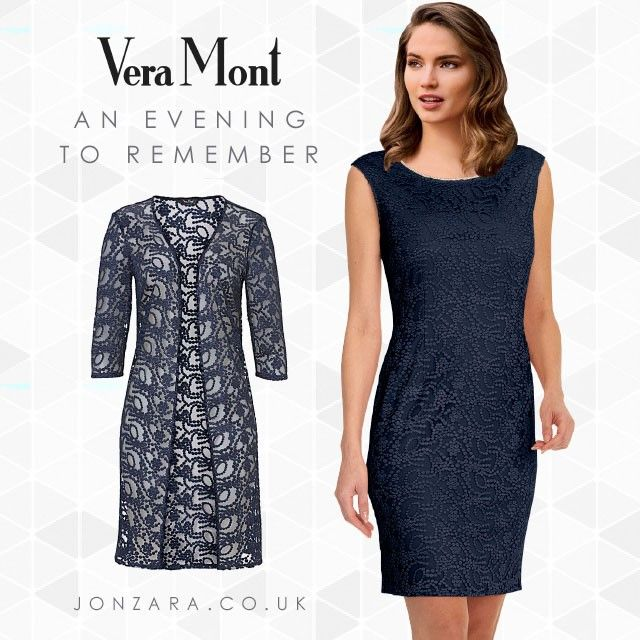 440b97e5cf1 Create magical memories in this beautiful Vera Mont dress   jacket that  will carry you in style to any occasion this season.