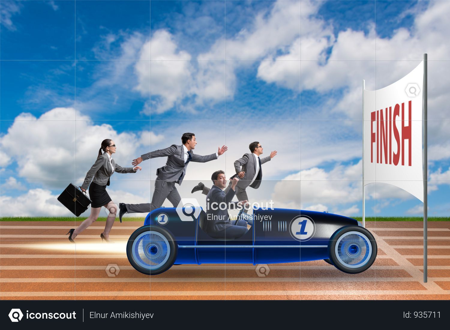 Premium Competition Concept With Business People Competing Photo Download In Png Jpg Format Business People Competition Competing