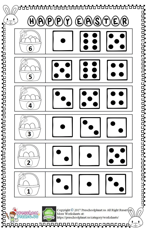 Easter Number Count Worksheet Easter Preschool Worksheets Easter Worksheets Easter Math Worksheets [ 1324 x 848 Pixel ]