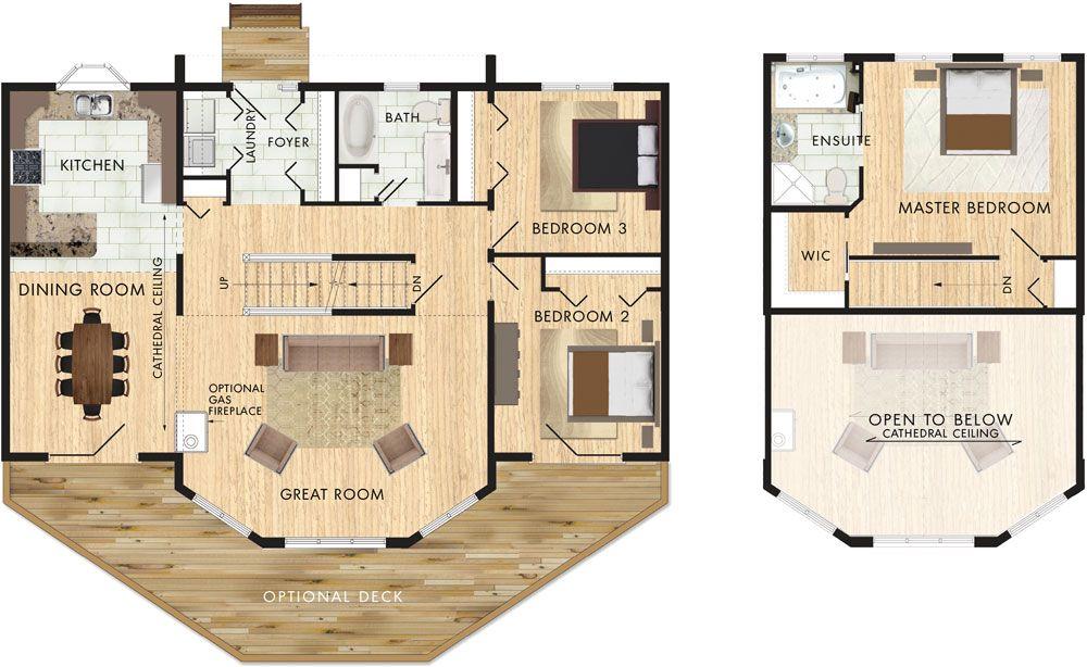 Taylor Creek Ii Floor Plan Floor Plans Vacation House Plans Custom Home Plans