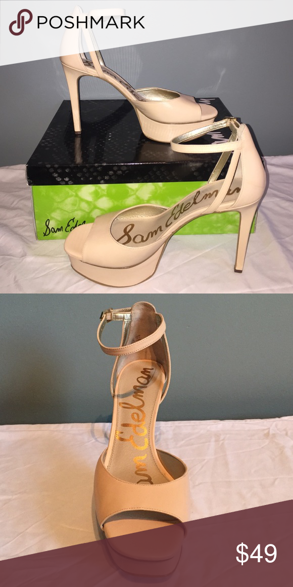 d61fdab5cea6ae NIB Sam Edelman nude leather heels NIB. Leather. 9 1 2. Sam Edelman Shoes  Platforms
