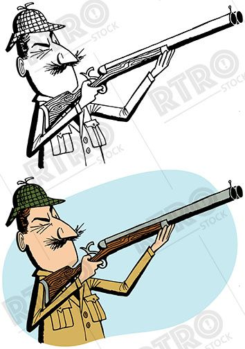 a hunter points his shotgun at some wild game retro vintage clip art rh pinterest co uk baseball umpire clipart free baseball umpire clipart free