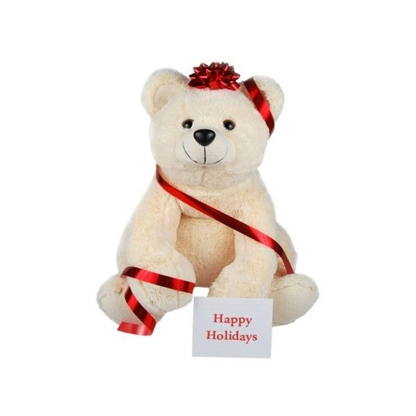 Christmas Teddy Bear - Winter Bear ($50) ❤ liked on Polyvore