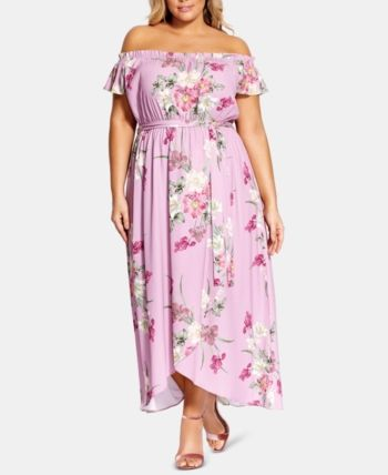1be68b67f68a7 City Chic Trendy Plus Size Pink Floral Maxi Dress - Pink 16W