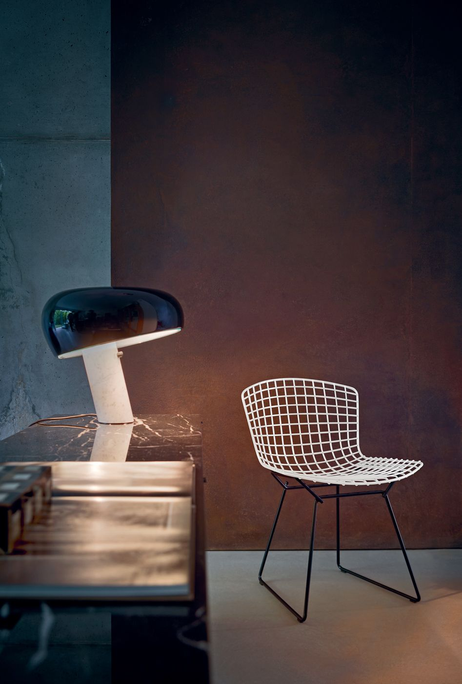 Bertoia Chair Fabricant Knoll Lampe Snoopy Fabricant Flos