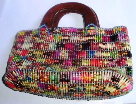 Zero To Hero Crafts Project Paper Bead Bags Certainly A Good Cause But I Think D Like Make My Own