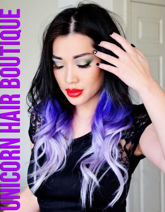 PURPLE OMBRE HAIR // Full Head Set // 20 by UnicornHairBoutique, $245.00
