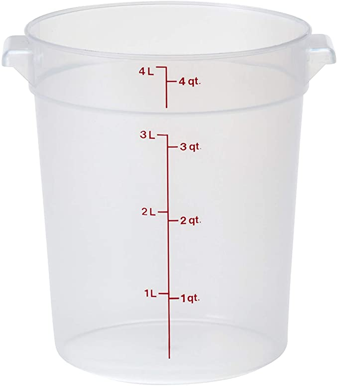 Amazon Com Cambro Rfs4pp190 4 Qt Round Polypropylene Food Storage Container Camwear Food Savers For Sour Do In 2020 Food Storage Containers Cambro Food Storage