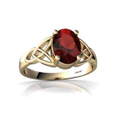 Genuine Garnet 14kt Yellow Gold celtic Ring Jewelry Pinterest