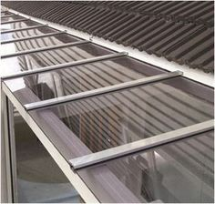 Clear Flat Panel Glass Or Poly Carbonate Roofing Panels