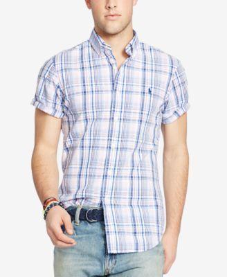 POLO RALPH LAUREN Polo Ralph Lauren Men\u0027s Plaid Short Sleeve Shirt. # poloralphlauren #cloth