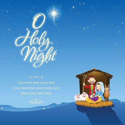 O Holy Night Vector Art Illustration Holy Night O Holy Night Vector Free