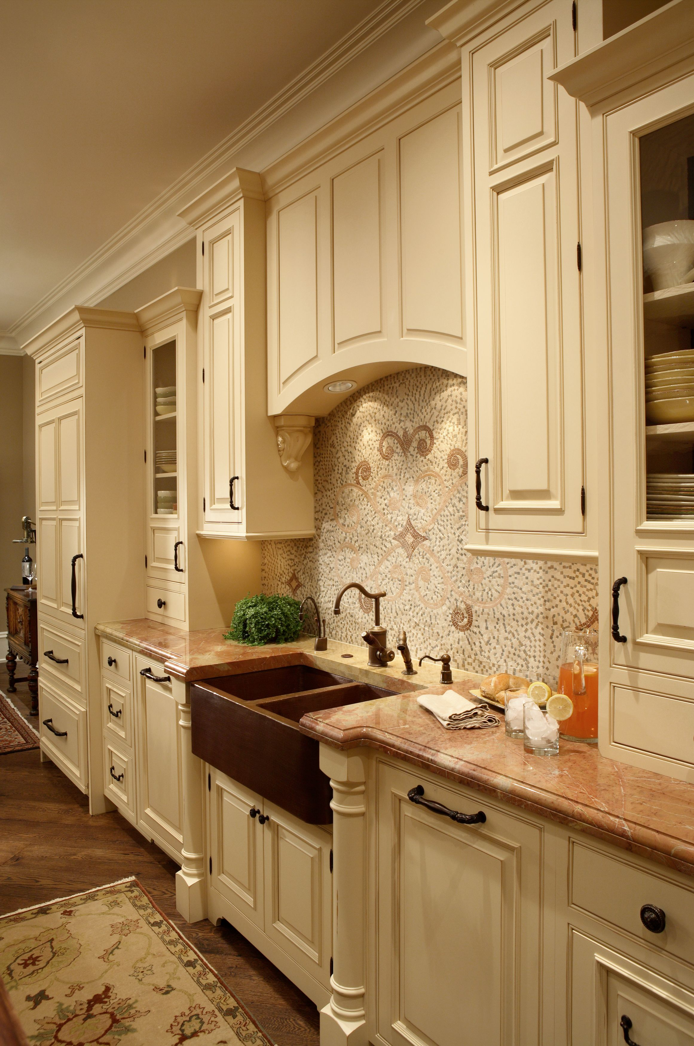 Woodharborcc Beaded Inset Cabinetry Features Worthington Door Style With Custom Enamel With R Kitchen Inspirations Kitchen Cabinets In Bathroom Tuscan Kitchen