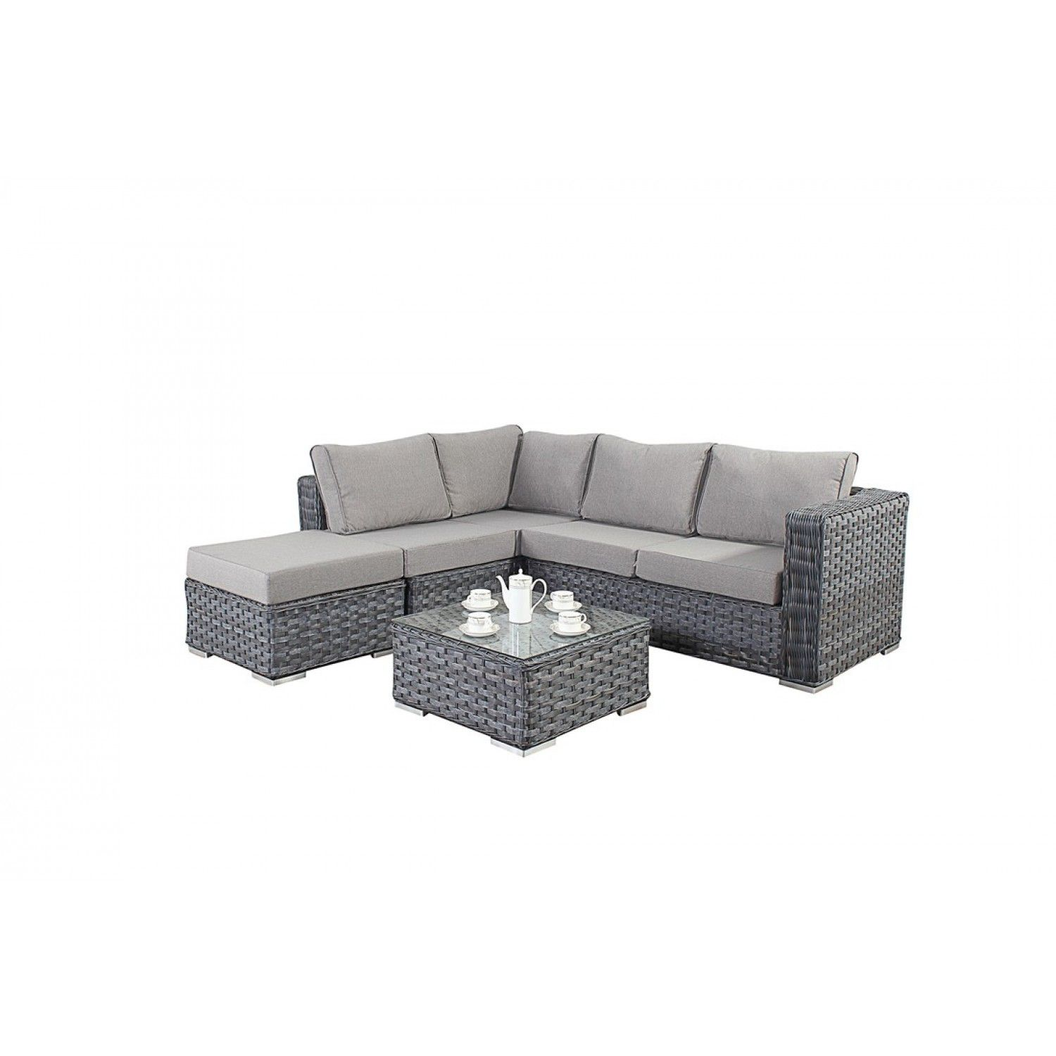 Garden Sofa Two Seater Bonsoni Small Corner Sofa Colour Grey Consists Of Two Modular