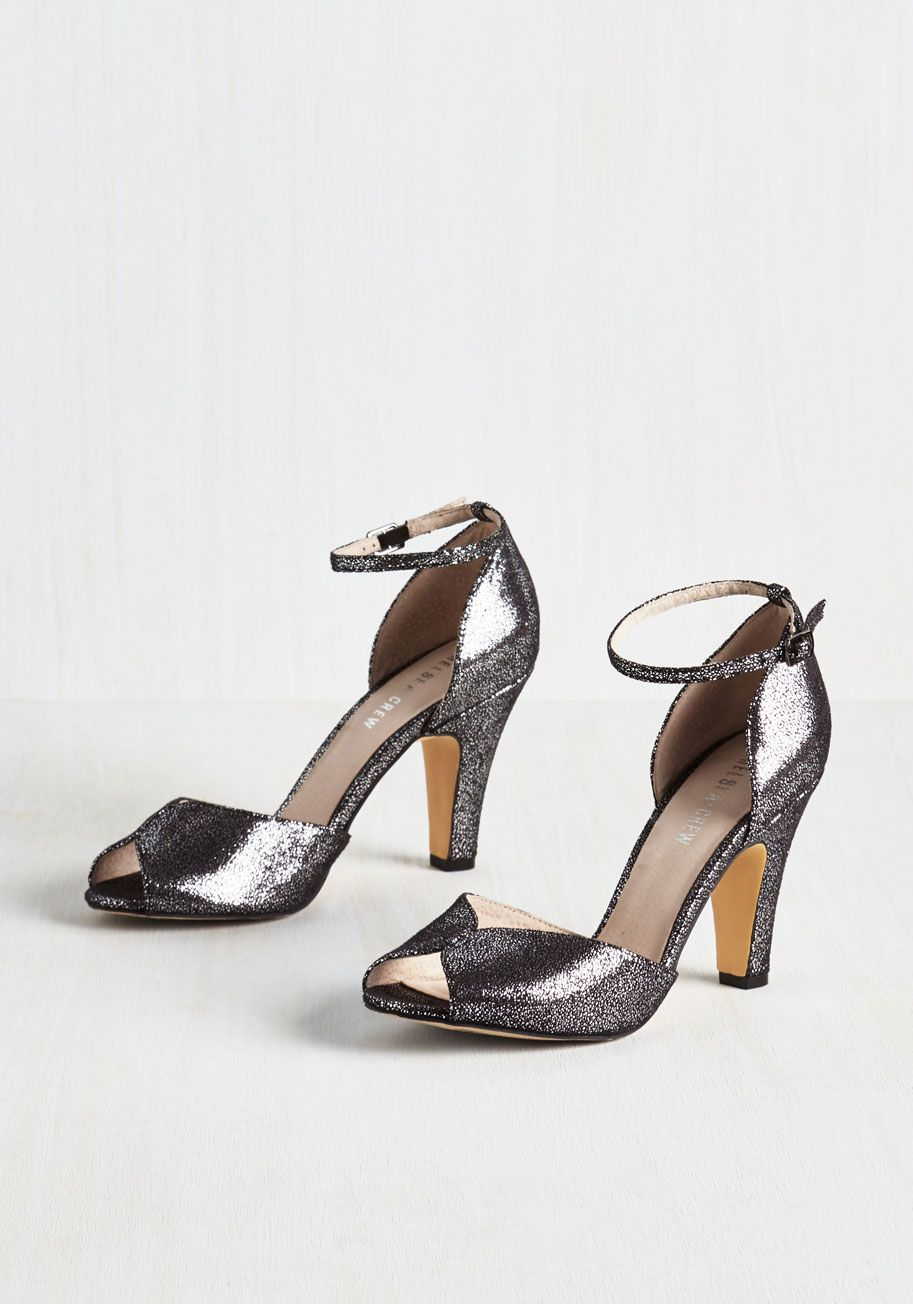 39052681ec4 Fine Dining Heel in Obsidian. A fabulous meal is made even richer by these  black heels!  silver  prom  wedding  bridesmaid  modcloth