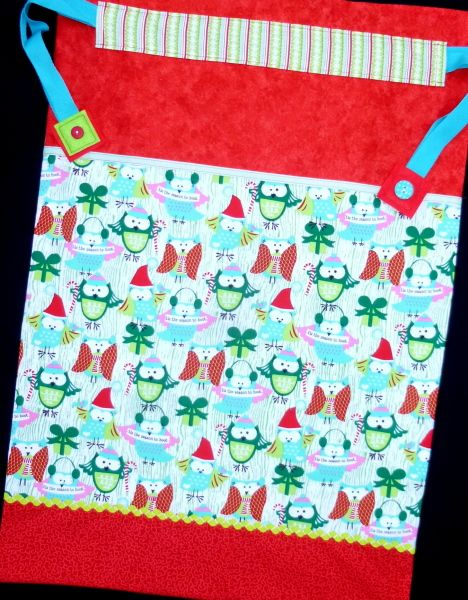Christmas Toy Sack - Jumbo Size - Festive Owls £42 by The Old Button on #Craftfest