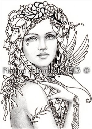 fairy tangles color your own aceo fairy tangle prints - Print Pictures To Color