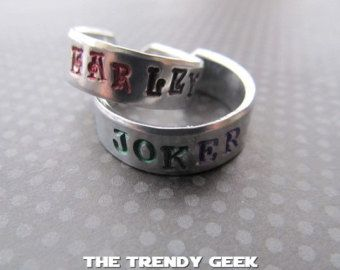 joker and Harley Quinn themed wedding rings Google Search