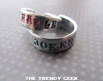 joker and Harley Quinn themed wedding rings Google Search