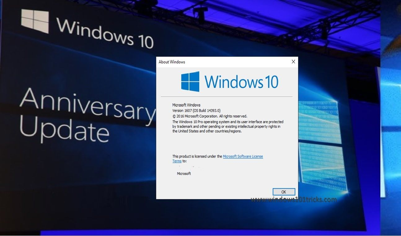 Windows 10 Anniversary update ver 1607 Build 14393 New Features Review