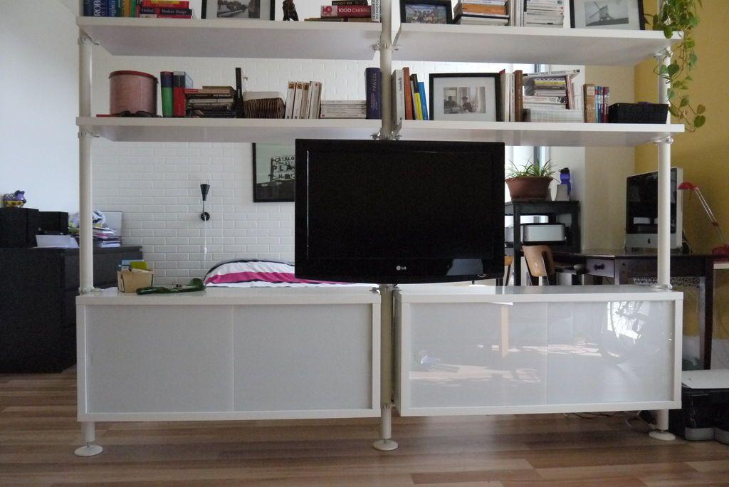 ikea hack pivot tv mount for the home pinterest tv storage divider and storage. Black Bedroom Furniture Sets. Home Design Ideas