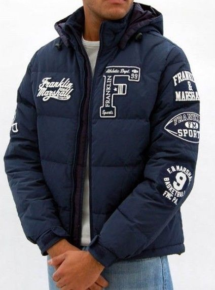 ae44bfe7a2e8 Franklin Marshall Men Navy Down Jacket for Cheap  Franklin Marshall ...