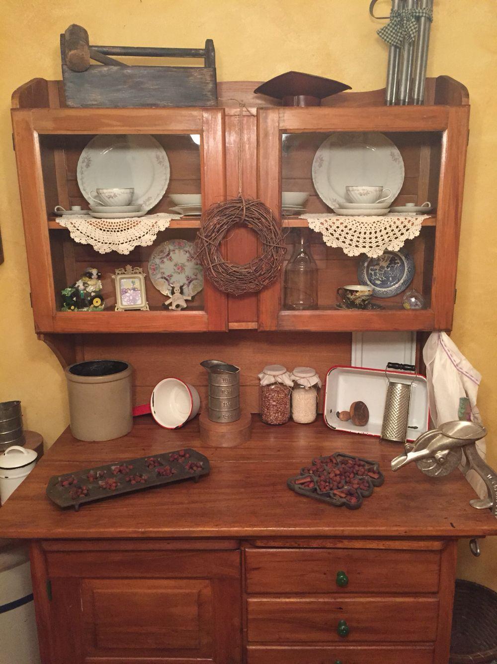 Antique baking cabinet! - Antique Baking Cabinet! Making A House, A Home! Pinterest House
