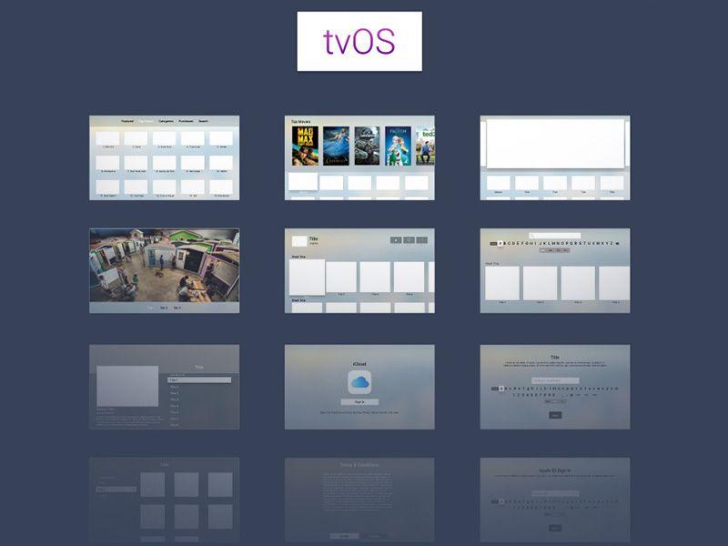 Apple tvOS UI Kit - Free sketch resource for download