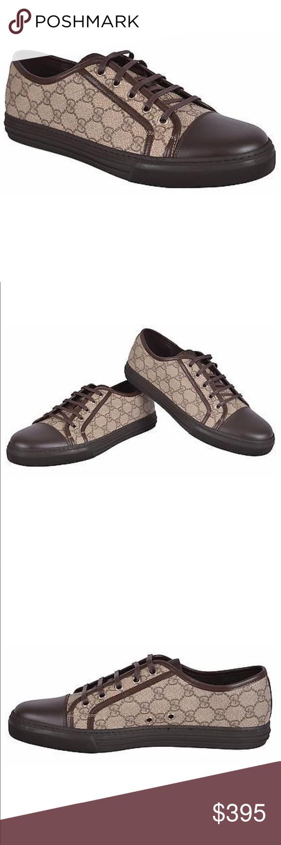 390cf8dfce3 Gucci men s shoes leather sneakers supreme beige Gucci men s shoes 100%  authentic leather sneakers supreme ebony cocoa tessuto gg supreme size 7  1 2 g (8.5 ...