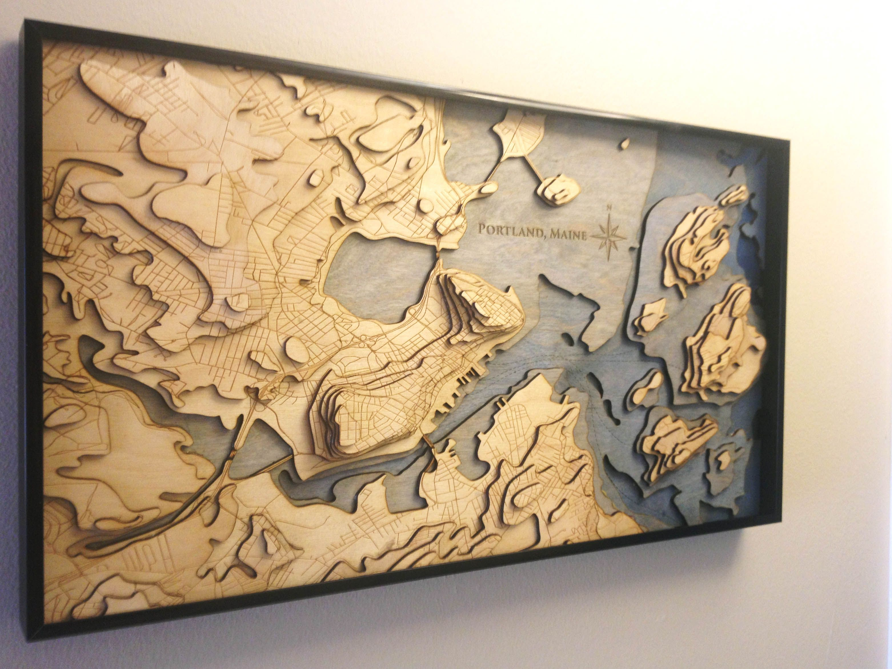 Making a laser cut topo map of Portland