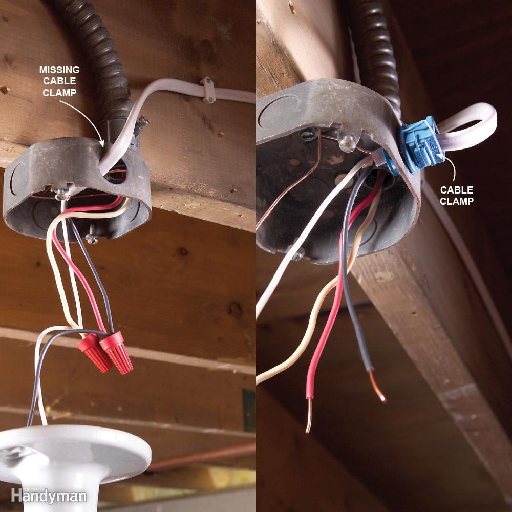 Top 10 Electrical Mistakes Clamp Cable And Metal Box