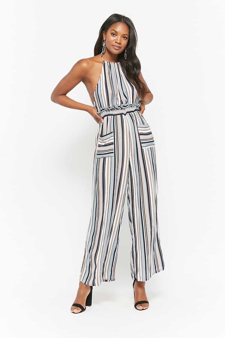 95009f8aa8c1 Striped Halter Jumpsuit    38.00 USD    Forever 21