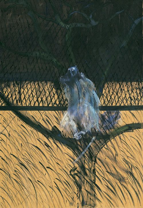 "Study of a Baboon"" by Francis Bacon"